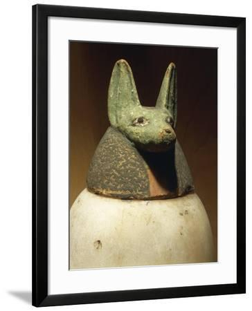 Canopic Jar Depicting Jackal-Headed Duamutef, Protector of Stomach--Framed Giclee Print