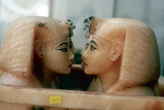 Canopic Jars from the Tomb of Tutankhamun. Artist: Unknown-Unknown-Giclee Print