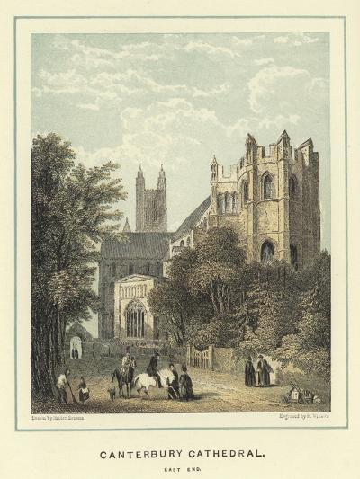 Canterbury Cathedral, East End-Hablot Knight Browne-Giclee Print