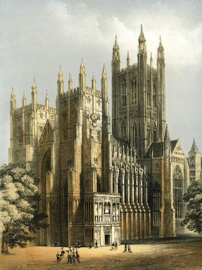Canterbury Cathedral, Kent, C1870-WL Walton-Giclee Print