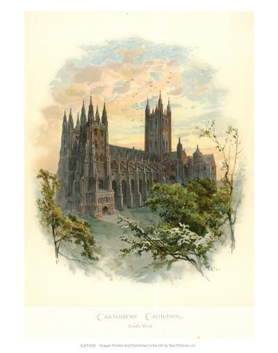 Canterbury Cathedral, South West-Arthur Wilde Parsons-Art Print