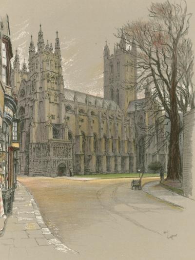 Canterbury Cathedral-Cecil Aldin-Giclee Print