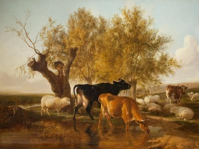 Canterbury Meadows, Evening-Thomas Sidney Cooper-Giclee Print
