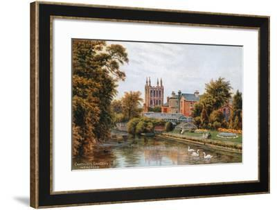 Cantilupe Gardens, Hereford-Alfred Robert Quinton-Framed Giclee Print
