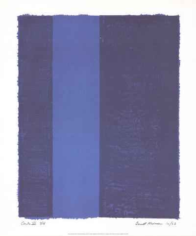 Canto VII-Barnett Newman-Collectable Print