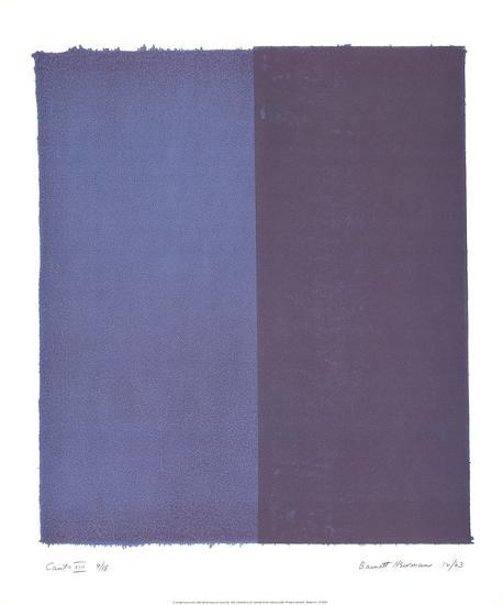 Canto VIII-Barnett Newman-Collectable Print