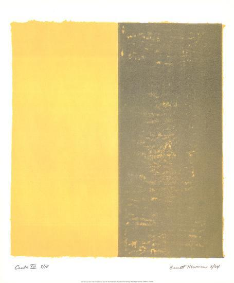 Canto XII-Barnett Newman-Collectable Print