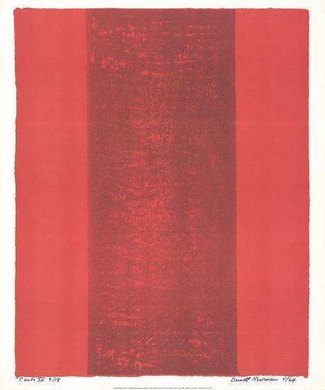 Canto XV-Barnett Newman-Collectable Print