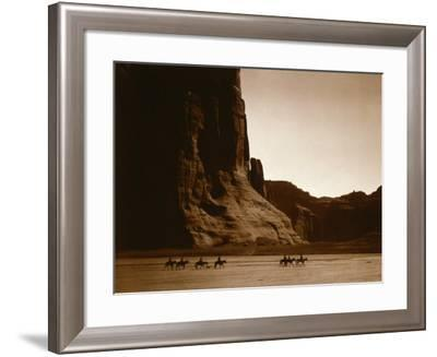 Canyon de Chelly, Navajo-Edward S^ Curtis-Framed Photo