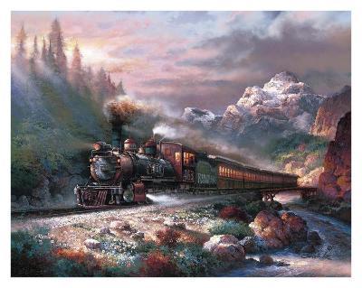 Canyon Railway-James Lee-Art Print