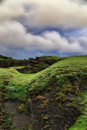 Canyon Walk, Fjaðrárgljúfur Southern Iceland Summer-Vincent James-Photographic Print