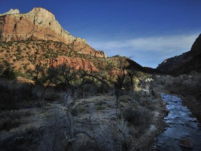 Canyon Walls and the Virgin River-Raul Touzon-Photographic Print