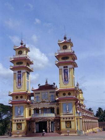 Cao Dai Temple, Synthesis of Three Religions, Confucianism, Vietnam, Indochina-Alison Wright-Photographic Print