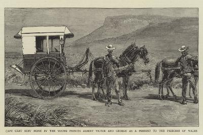 Cape Cart Sent Home by the Young Princes Albert Victor and George as a Present to the Princess of W--Giclee Print