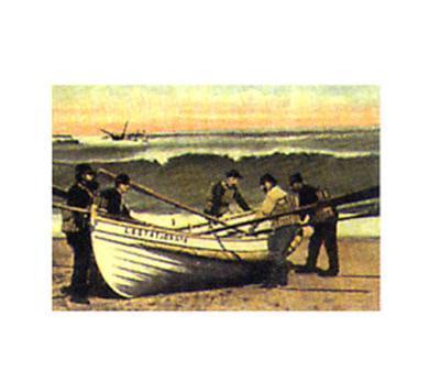 Cape Cod - Launching Life Boat--Art Print