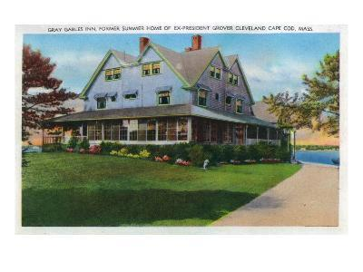 Cape Cod, Massachusetts, Exterior View of the Gray Gables Inn-Lantern Press-Art Print