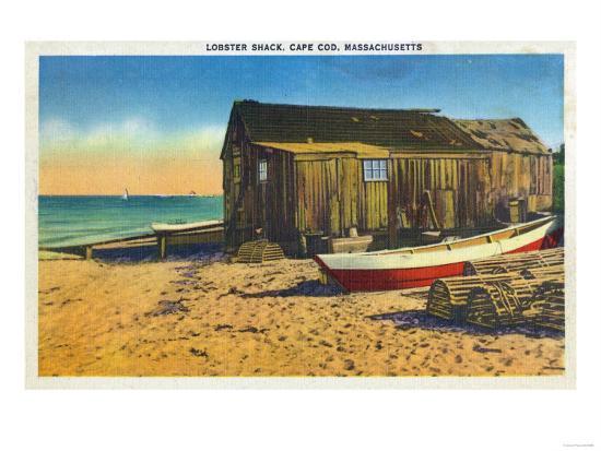 Cape Cod, Massachusetts - View of a Lobster Shack-Lantern Press-Art Print