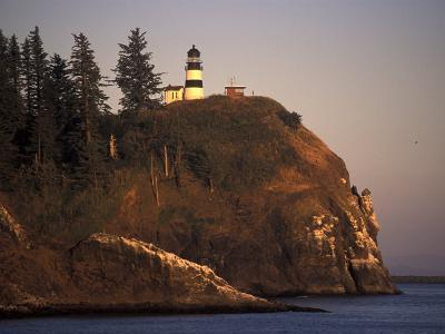 Cape Disappointment Lighthouse, Lewis and Clark Trail, Illwaco, Washington, USA-Connie Ricca-Photographic Print