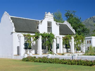 Cape Dutch Architecture, Early 19th C. Stellenbosch, South Africa-Fraser Hall-Photographic Print