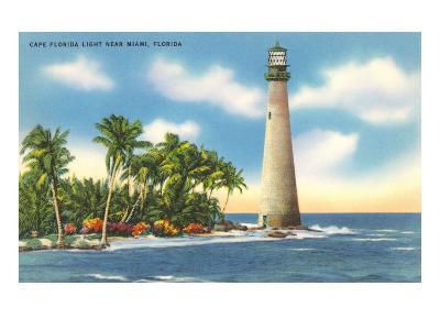 Cape Florida Lighthouse, Miami, Florida--Art Print