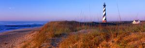 Cape Hatteras Lighthouse on the coast, Hatteras Island, Outer Banks, Buxton, North Carolina, USA