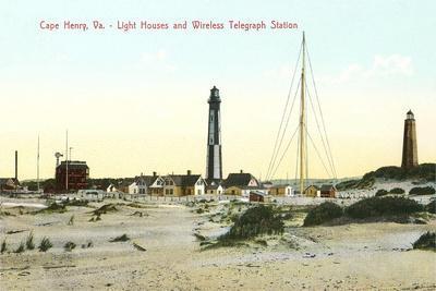 Cape Henry Lighthouses--Art Print