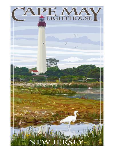 Cape May Lighthouse - New Jersey Shore-Lantern Press-Art Print