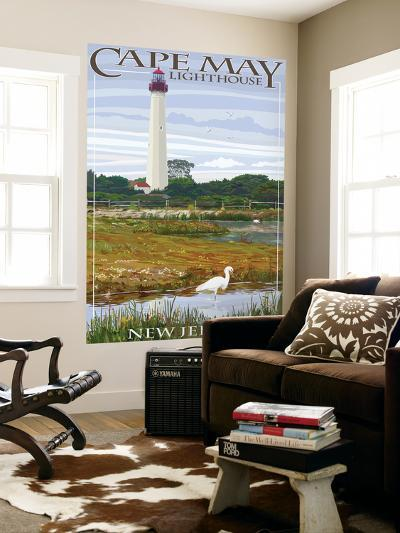 Cape May Lighthouse - New Jersey Shore-Lantern Press-Wall Mural