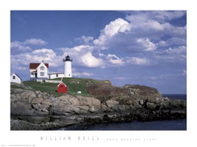 Cape Neddick Light-William Neill-Art Print