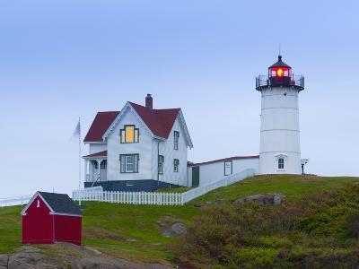 Cape Neddick (The Nubble) Lighthouse, Cape Neddick, Maine, New England, USA, North America-Alan Copson-Photographic Print