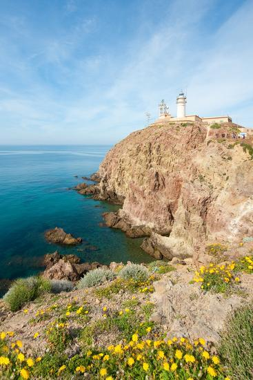 Cape of Gata Lighthouse in Andaluc??A, Spain-Asier-Photographic Print