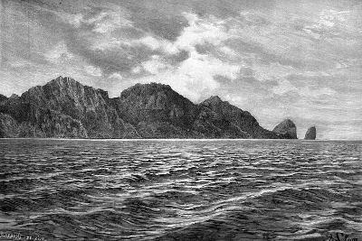 Cape Pillar, Tasman Peninsula, 1895-Barbant-Giclee Print