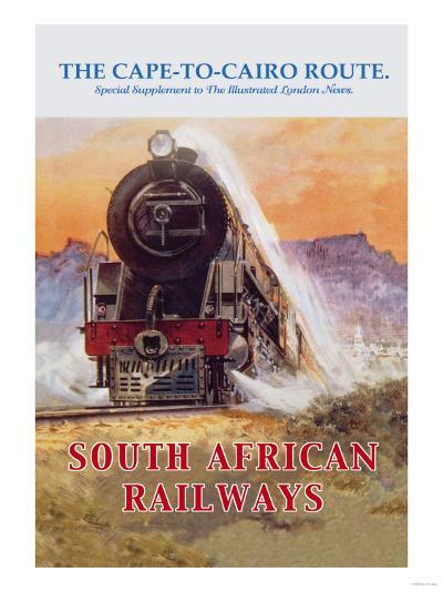 Cape to Cairo Route, South African Railways--Art Print