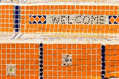 Cape Town, Exterior Wall, Mosaic, 'Welcome'-Catharina Lux-Photographic Print
