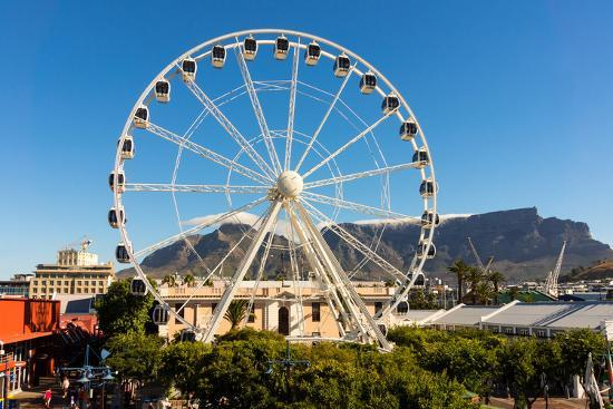 Cape Town, Harbour, V and a Waterfront, Ferris Wheel-Catharina Lux-Photographic Print