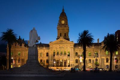 Cape Town, Historical City Hall, in the Evening-Catharina Lux-Photographic Print