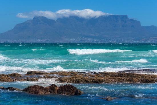 Cape Town, Table Mountain, Distant View-Catharina Lux-Photographic Print