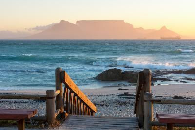Cape Town, Table Mountain Seen from the Bloubergstrand-Catharina Lux-Photographic Print