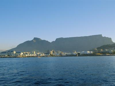 Cape Town with Table Mountain Behind, South Africa-Fraser Hall-Photographic Print