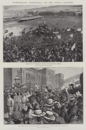 Capetown's Farewell to Mr Cecil Rhodes--Giclee Print