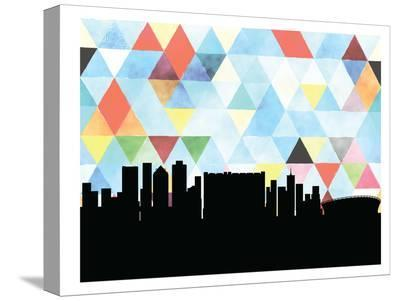 Capetown Triangle-Paperfinch 0-Stretched Canvas Print