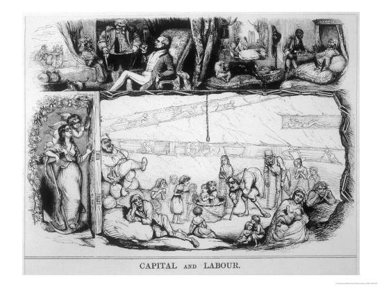 Capital and Labour, Satire on the Class System-James Doyle-Giclee Print