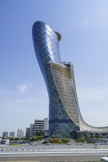 Capital Gate, Sometimes Called the Leaning Tower of Abu Dhabi, United Arab Emirates, Middle East-Fraser Hall-Photographic Print