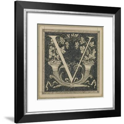 Capital Letter V, Illustration from 'The Life of Our Lord Jesus Christ'-James Tissot-Framed Giclee Print