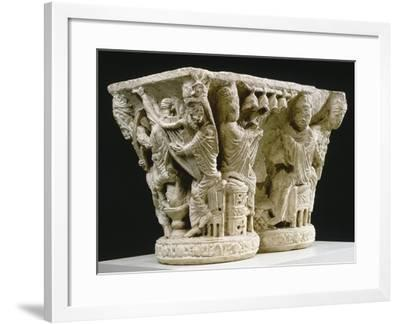 Capital of Musicians, from the Cloister of the Abbey of St Georges De Boscherville in France--Framed Giclee Print