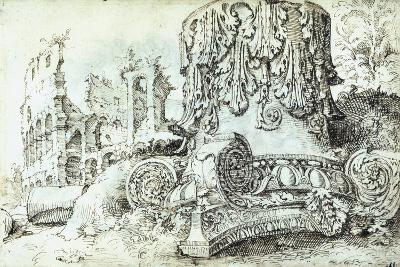 Capital with Colosseum in Background--Giclee Print