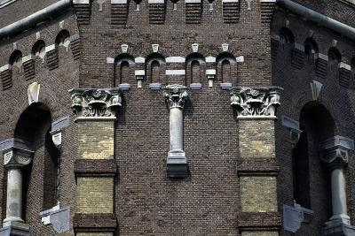 Capitals and Decorations on the Water Tower in the Hague (1874), the Netherlands--Photographic Print