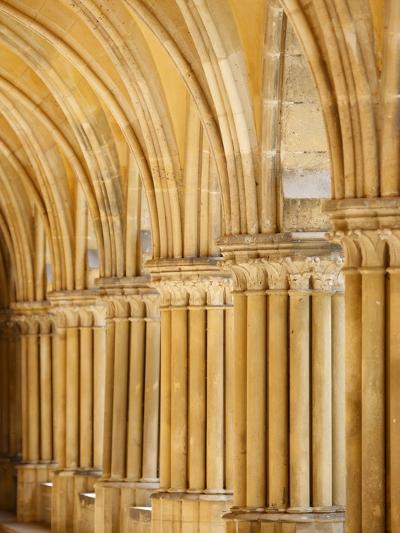 Capitals and Pillars, Royaumont Abbey Cloister, Asnieres-Sur-Oise, Val D'Oise, France, Europe--Photographic Print