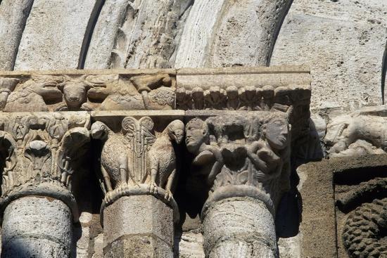 Capitals, Architectural Detail of Collegiate Church of Saints Quiricus and Julietta--Giclee Print