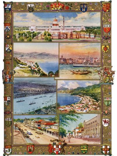 Capitals of the British Empire, 1937-Charles E Turner-Giclee Print
